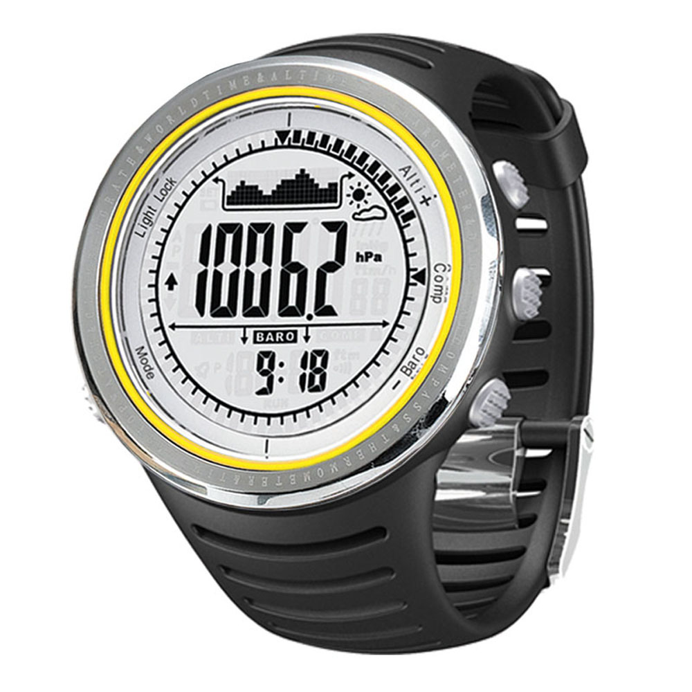 Sunroad Multifunction Sports Watch FR802A 5ATM Waterproof Altimeter Compass Stopwatch Fishing Barometer Pedometer Outdoor(China (Mainland))