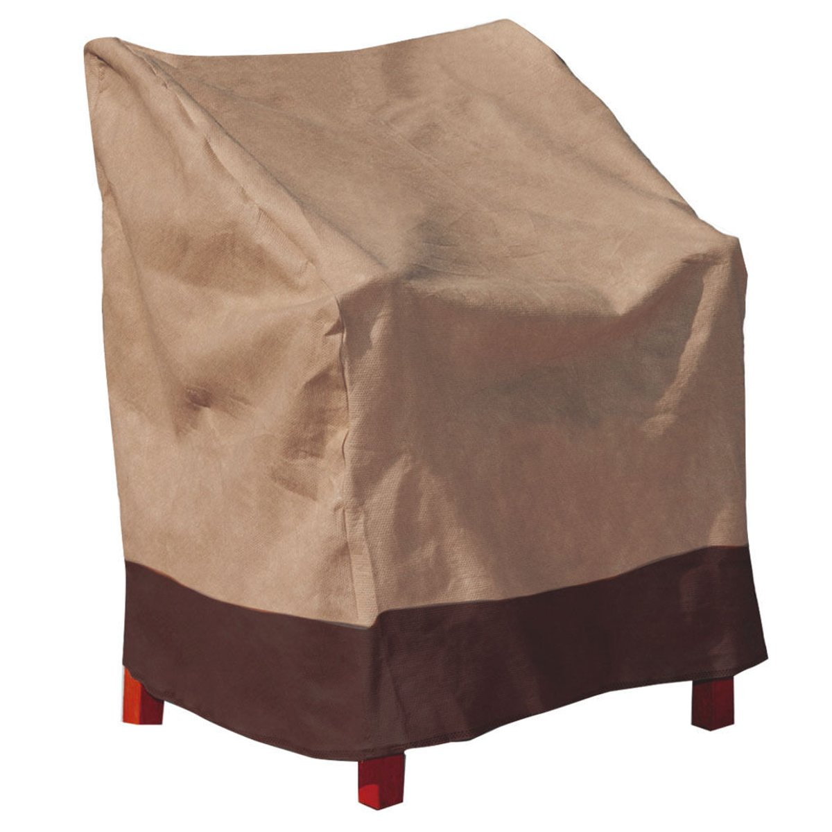 Brown Polyester Waterproof Patio Chair Cover Single High Back Chair Covers Yard Furniture Protective Cover Textiles Accessories(China (Mainland))