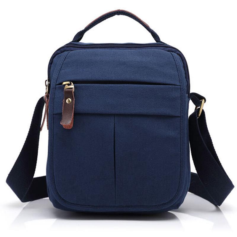 New fashion canvas messenger bag shoulder leisure and business mini men's bag hansbags(China (Mainland))