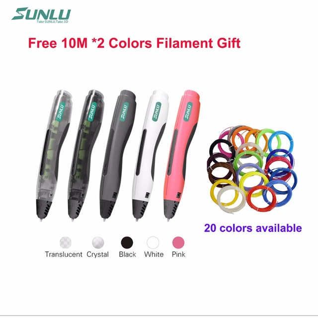 Новый горячий продажа прохладный подарок для детей SL400 Дети doodle игрушка пера 3D ручки использовать PLA нити безопасны для использования детьми 3d живопись pen