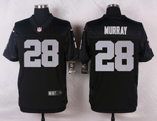 Oakland Raiders #34 Bo Jackson #32 Marcus Allen #28 Latavius Murray Elite White and Black Team Color high-quality free shipping(China (Mainland))