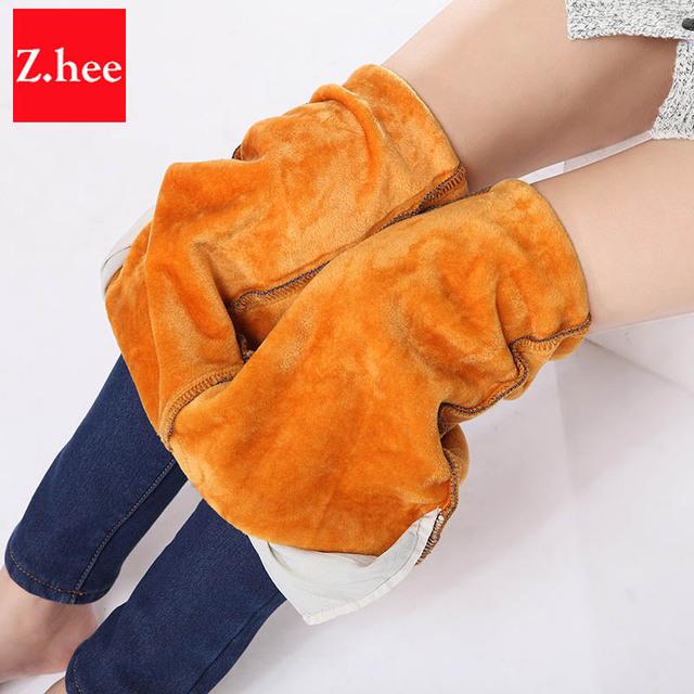 Альпака кашемир ультра-мягкий теплые джинсы женские зима эластичность эластичный ...