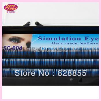Single Size C curl Eyelash Handmade Synthetic Black False Eyelashes Extension Thickness(0.12mm)8/10/12mm natural false eyelashes