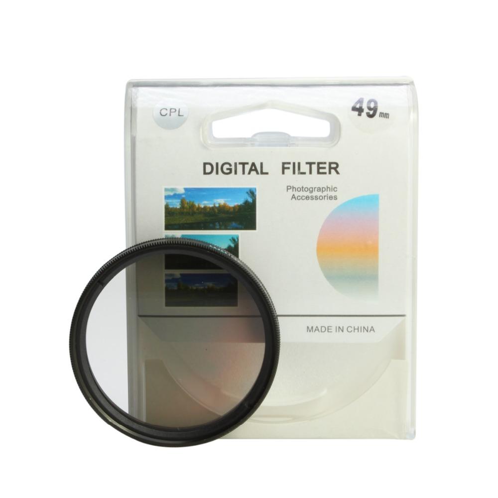 49 мм поляризационный круговой Поляризатор фильтра 49 мм C-PL для КПЛ для Кэнон Никон Сони Пентакс Самсунг все компании Fujifilm 49mm объектив