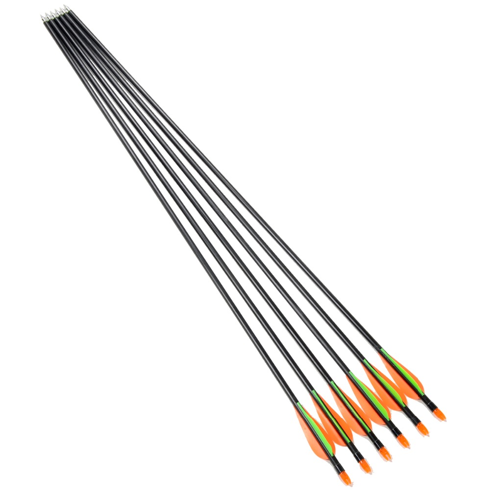 6pcs lot 32inch Spine 400 Fiberglass Arrows For Recurve Bow Compound Bow Arrow with Protect Cover