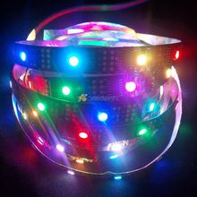 Buy 5M WS2801 Addressable LED Strip 32leds/m 5050 RGB 12mm Black/White PCB IP20/67 Waterproof Magic Dream Color Rope Light DC5V for $27.63 in AliExpress store