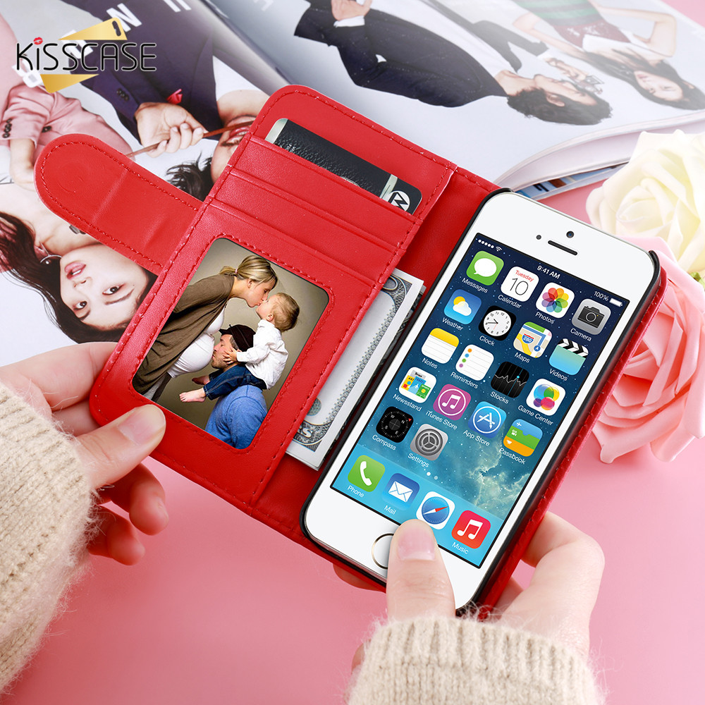 KISSCASE For iPhone 4S Leather Cases Card Slot Stand Wallet Case For iPhone 4 4S 4G Photo Frame Flip Phone Cover For iPhone 4 4S(China (Mainland))