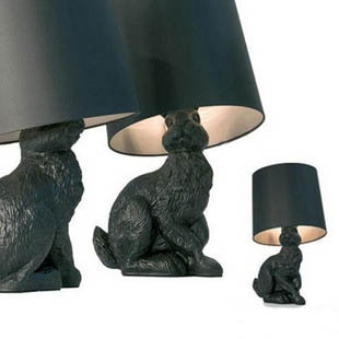 Moooi rabbit black-and-white table lamp bedside table lamp(China (Mainland))