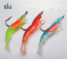 6CM 3G 3-Colors 3PCS Luminous Soft Lures ISCA Artificial Shrimp Lures/Hooks Wlures Soft Baits Soft Fishing Lures Fishing Baits
