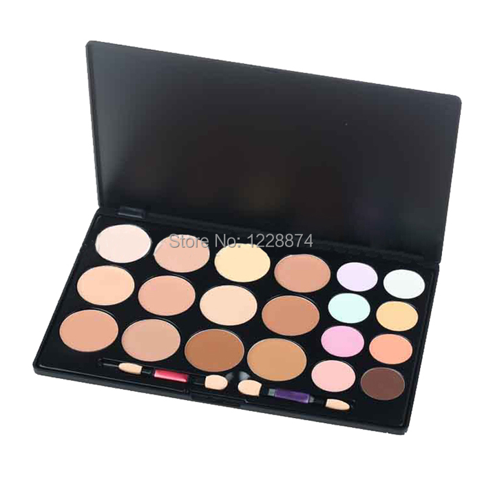 Hot Sale New Professional 20 Colors Contour Face Cream Makeup Concealer Palette Powder Free shipping(China (Mainland))