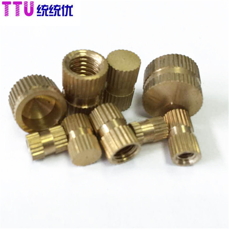 M10M12 blind hole copper insert nut knurled GB809<br><br>Aliexpress