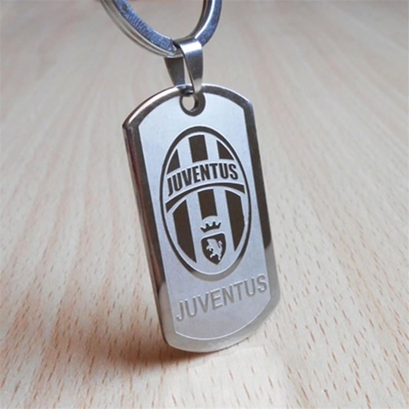 50PCS/lot 20 teams choose football club key chain,women men jewelry key ring fans souvenir gift sport juventus soccer keychain(China (Mainland))