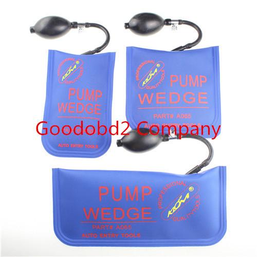Professional Lock Pick Diagnostic Tool KLOM pump wedge Air wedge LOCKSMITH TOOLS inflatable unlock vehicle door tool 3pcs/lot(China (Mainland))