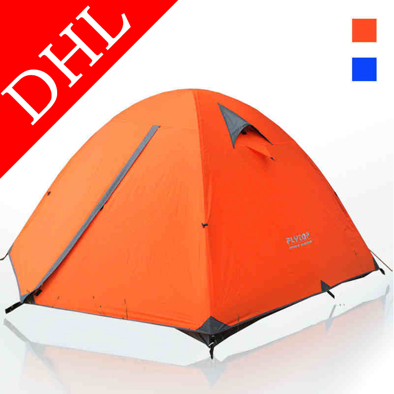 Ollas brand tourist camping tent uv double layer tents travel outdoor large family hiking tent 3-4 person FLZP13(China (Mainland))