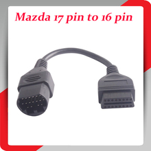 Mazda 17 Pin To OBD 2 OBD II Cable 16 Pin Connector Diagnostic Tool Adapter Extension Cable Good Quality free shipping(China (Mainland))