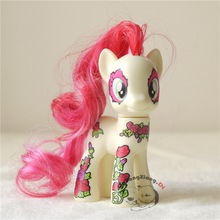 MLP 8cm Friendship Is Magic Blossom Collection Red hair Yellow Horse Exclusive Poni Figure