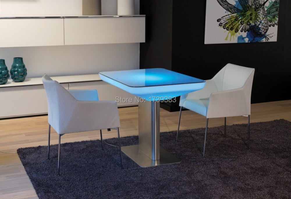 H100 Led Illuminated Furniture Dining table for 4 people,STUDIO LED,led coffee table for bar,meeting room,living room or events(China (Mainland))