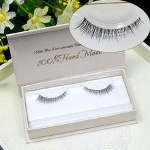Makeup False Eyelashes 1 Box 1 Pair White Packaging Natural Crisscross Messy 3D Mink Fake Eyelashes Transparent Lashes(China (Mainland))