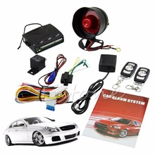 1-Way Car Vehicle Protection Alarm Security System Keyless Entry Siren +2 Remote(China (Mainland))