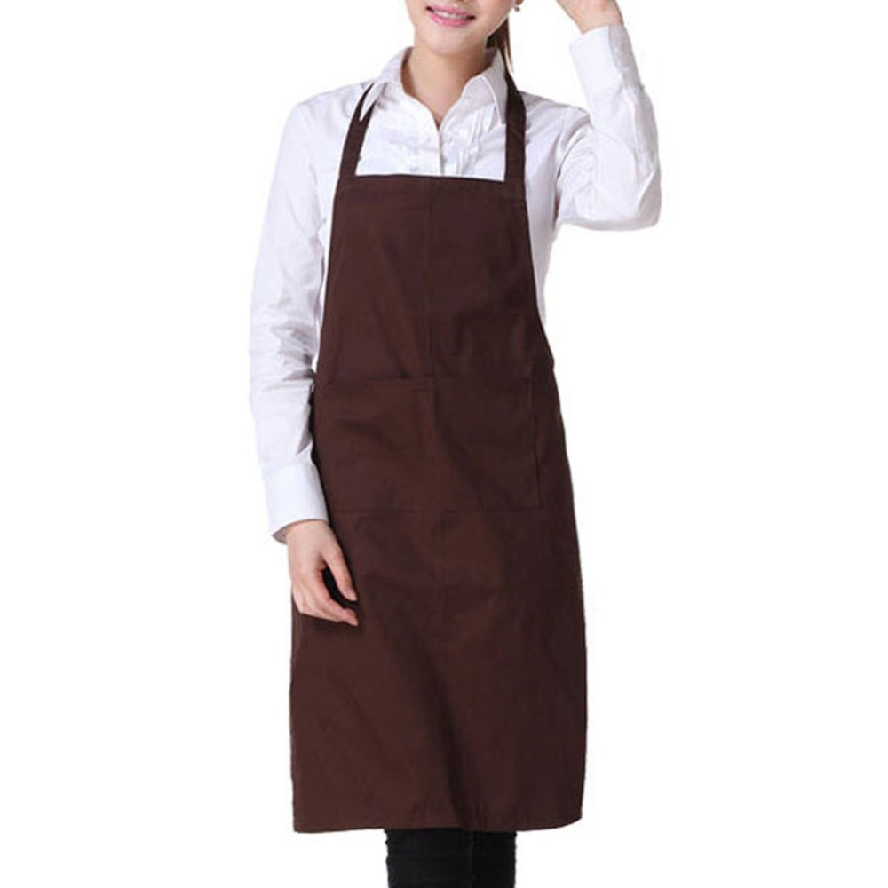 Coffee Color Fashion Light Weight Polyester Kitchen Apron For Lady(China (Mainland))