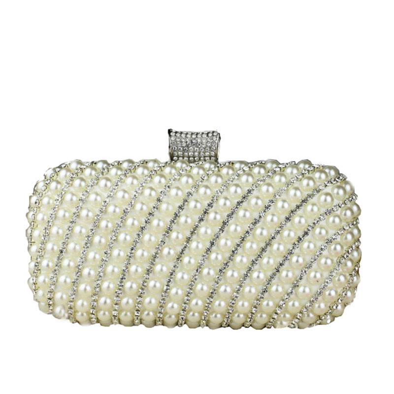 Ladies Pearl Rhinestone Clutch Fashion Crystal Evening Bag Chain Handbag Bridal Wedding Dinner Party Purse Bolsa mujer XA1113B<br><br>Aliexpress