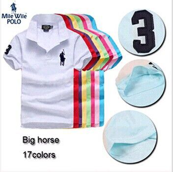 Perfect quality big horse polo ralp men brand camisa solid polo shirt casual style short sleeve