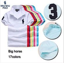 Perfect quality big horse polo ralp men brand camisa solid polo shirt casual style short sleeve plus size S-XXXL
