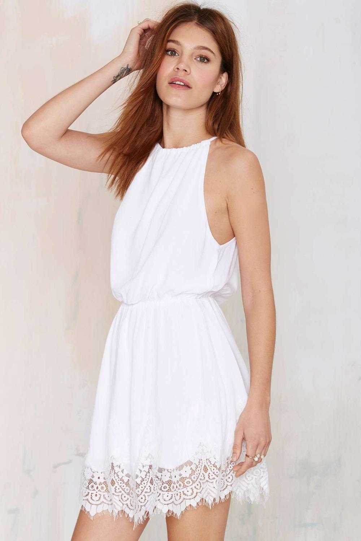 white halter summer dresses