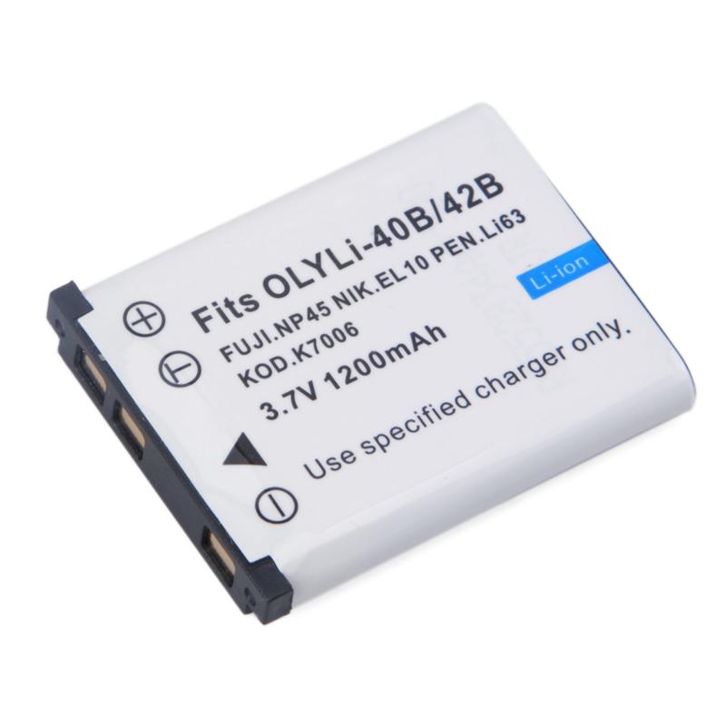 Digital Batterie 1200mAh Li-40B/42B camera Battery for Olympus Li-42B/Pentax D-Li63/Fuji NP-45/EN-EL10+more(China (Mainland))