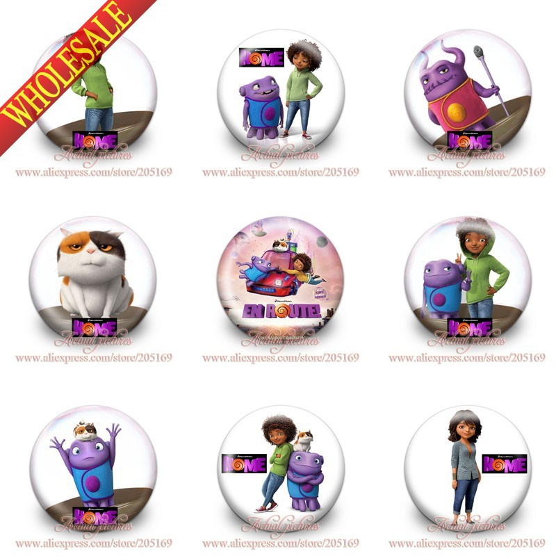 New Arrival,Kids Collection,18pcs Home Buttons Pin Brooch Badges,30MM Diameter,Kids Toy,Party Gifts(China (Mainland))