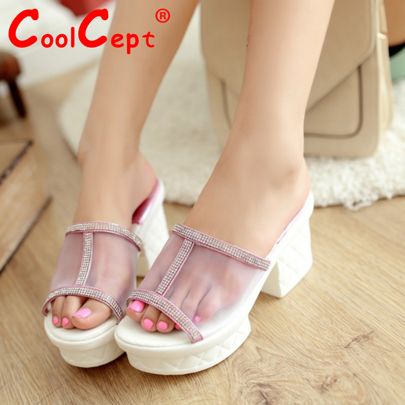 CooLcept free shipping quality wedge sandals platform women sexy fashion lady female shoes P14494 hot sale EUR size 35-39<br><br>Aliexpress