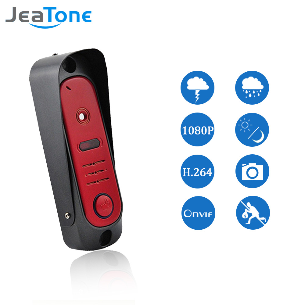 JeaTone Red HD 720P 1.3MP Camera Door Wifi Intercom Security Doorbell Camera Wireless Video Door Phone Control Lock(China (Mainland))