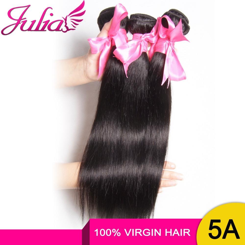 100% Real Human Hair Extension Peruvian Virgin Hair 3 Bundles lot, Julia Hair Products Peruvian Straight Virgin Hair Weaves(China (Mainland))