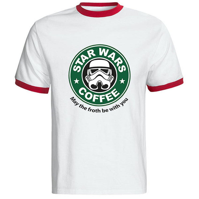 Famous Movies Logo Design Star Wars Male T Shirt Cool Fashion Star Wars T Shirt Round