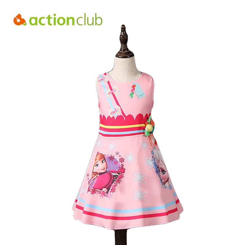 2016 Elsa Anna Dresses Baby Gril Princess Party Dress For Girls Summer Style Clothing 2-12 Years Girls Clothing KD499(China (Mainland))