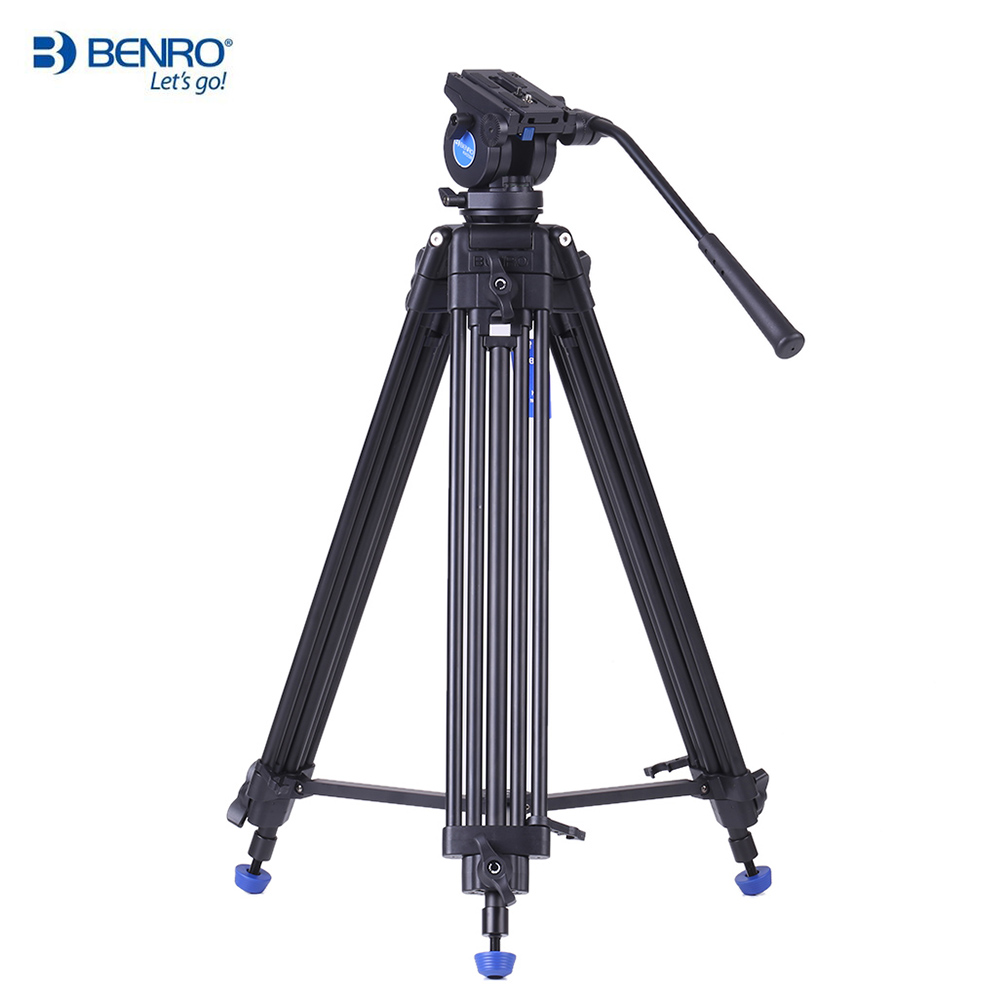 Benro KH25N Professional Camera Tripod Aluminum Alloy Video Tripod with Hydraulic Head for Canon Nikon Sony DSLR Max Load to 5kg(China (Mainland))
