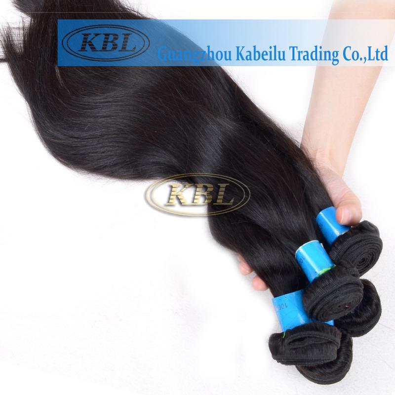 4A Brazilian Virgin Hair Straight 3psc Straight Brazilian Hair Natural Clip Extensions KBL Hair Unprocessed Hair Extensions