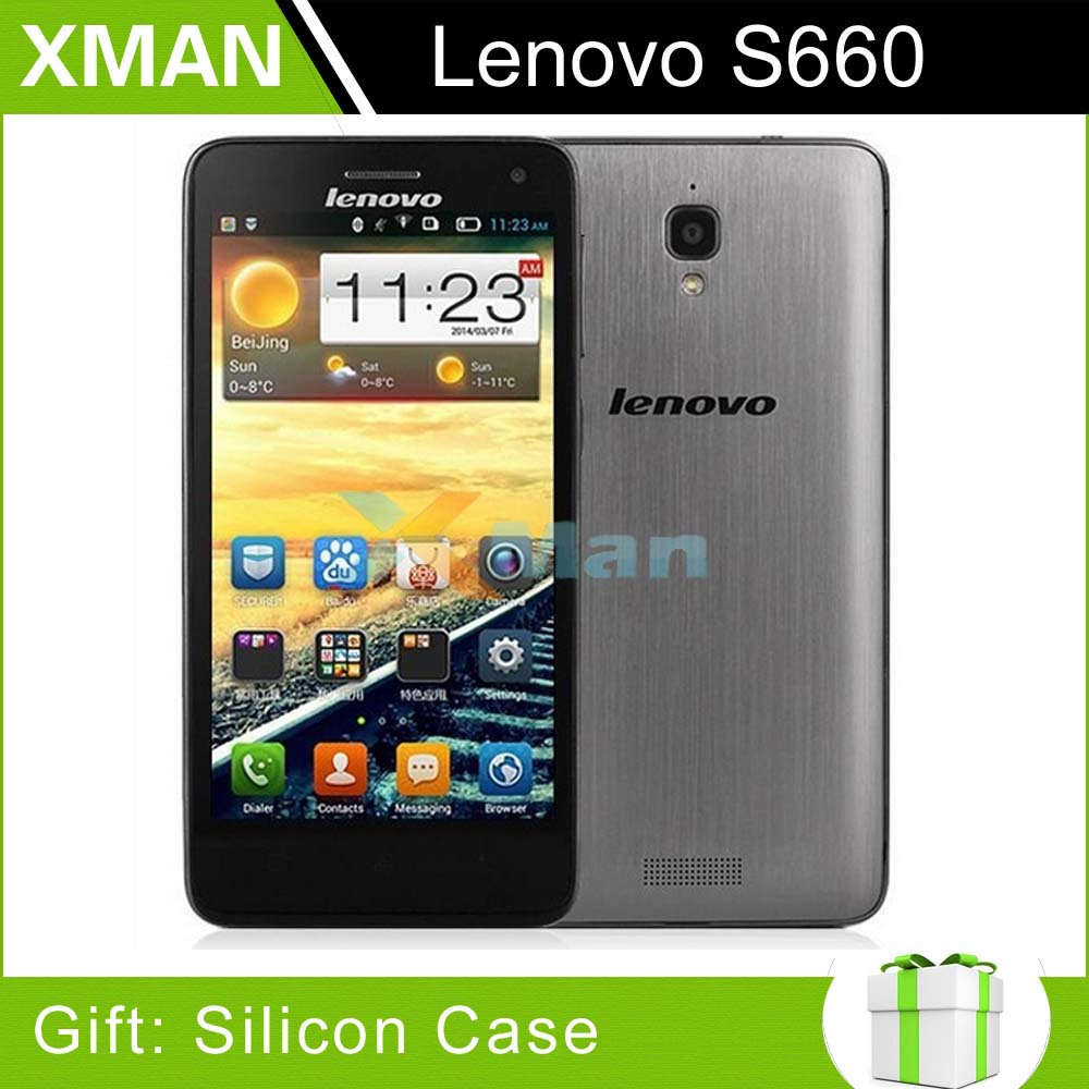 "Free silicon case Original Lenovo S660 S668T MTK6582 Quad Core WCDMA Smart phone 4.7"" IPS 8GB Rom Android 4.2 WCDMA S660(China (Mainland))"
