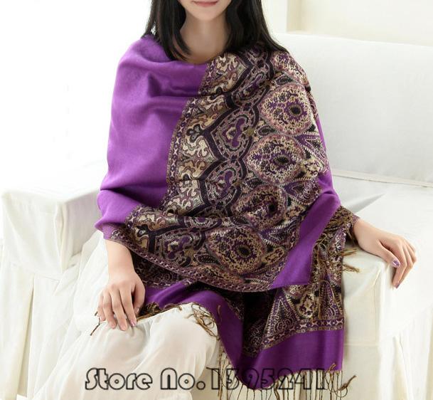 Cotton Winter Scarf 190*70cm Jacquard Women Shawls And Scarves Warm Long Big Brand Foulard Cape India Echarpes Cachecol #wj016(China (Mainland))