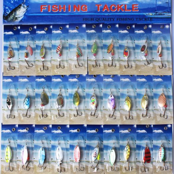 Гаджет  NEW PACKAGE Metal lure 30x spinnerbait  super new fishing hardlure pike salmon bass card 2 None Спорт и развлечения