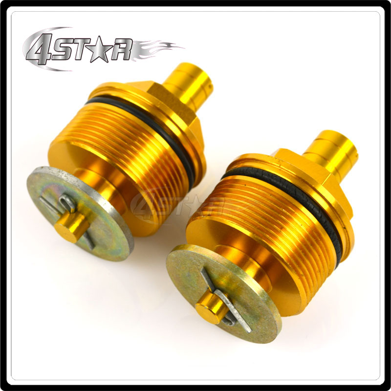 37mm Gold Fork End Cap Screw Bolt Tube Plugs For CBR250 NC19 NC22 VT250 Motorcycle ATV Racing Street Bike(China (Mainland))