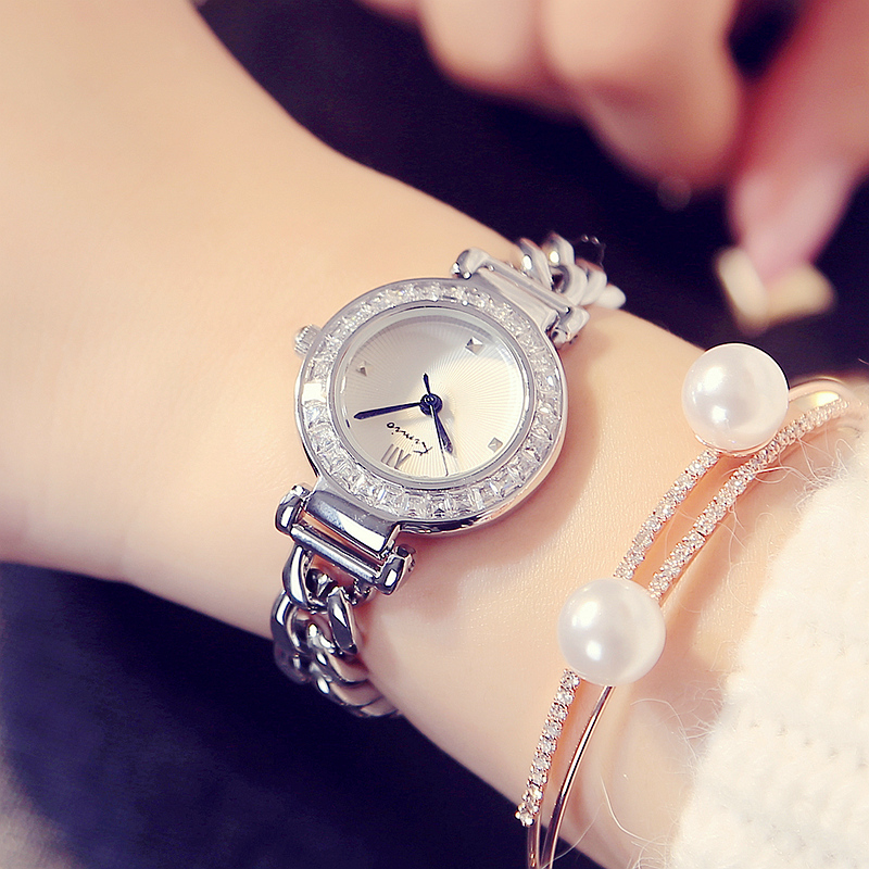 2017 Kimio New Luxury watches Women's Quartz bracelet wristwatches Twisted design Rhinestone circle ladies watches with Gift Box(China (Mainland))
