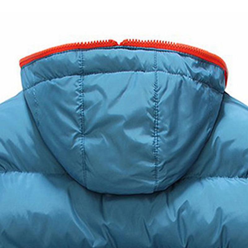 Winter Leisure Men Hooded Thick Padding Jacket Zipper Thin Coat