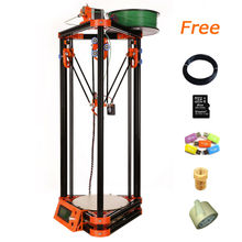 high quality factory delta 3d printer for sale with 40m Filament 8GB SD card LCD masking tape for Free