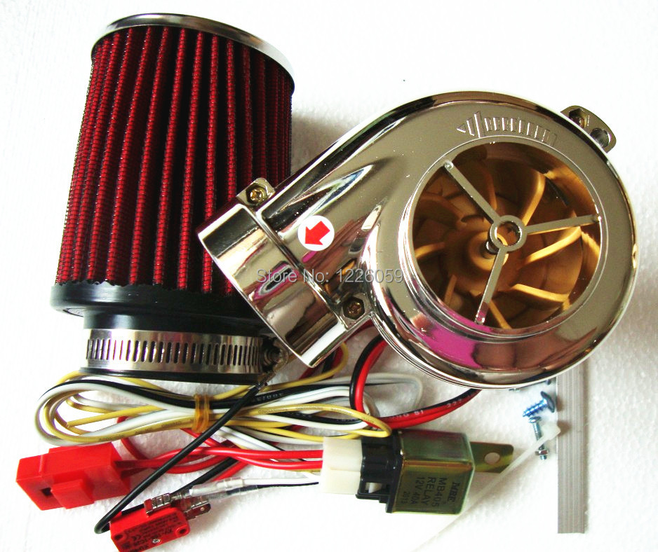 Hot selling DIY Turbo-500 Turbo kit motorcycle parts Electronic turbocharger MINI car Electric turbine supercharger(China (Mainland))