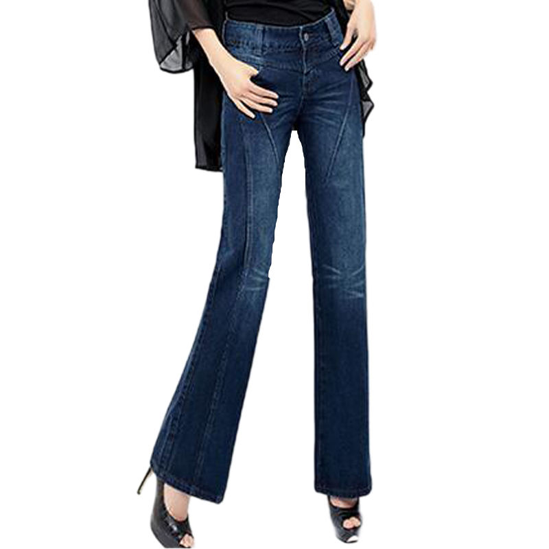 2016 new fashion women jeans hot style skinny wide leg pants full length and high waist Great quality women sexy demin jeans(China (Mainland))