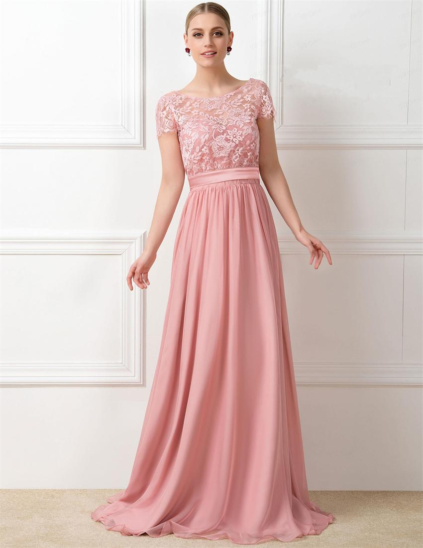 Popular peach dress for brides maid buy cheap peach dress for lovely peach color short sleeve long bridesmaid dresses 2015 sexy see through lace brides maid dress ombrellifo Images