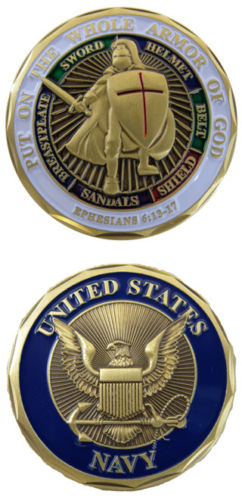 Custom coins low price Military US Navy Armor Of God Challenge Coin oem metal milirary coins FH810236(China (Mainland))