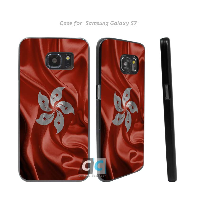 Hong Kong S.A.R. of the P.R.C. Realistic Flag Hard Black Case Cover for Samsung Galaxy s3 s4 s5 mini s6 s7 edge plus +(China (Mainland))
