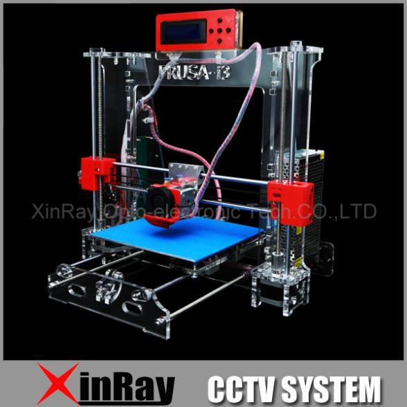 New Acrylic Framework  Rerap Prusa I3 Kit 3D Printer DIY  With Screen Support Offline Print Stable Accuracy RSP802(China (Mainland))